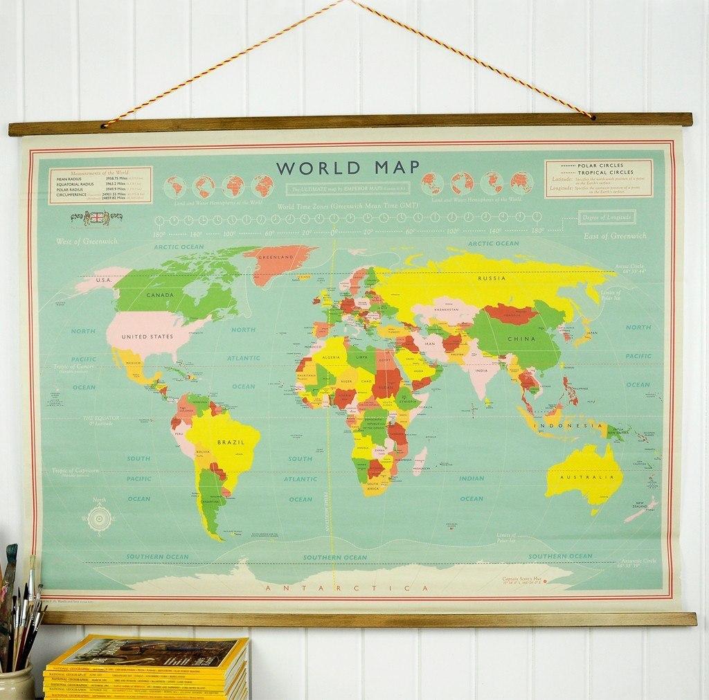 verdenskort til væg