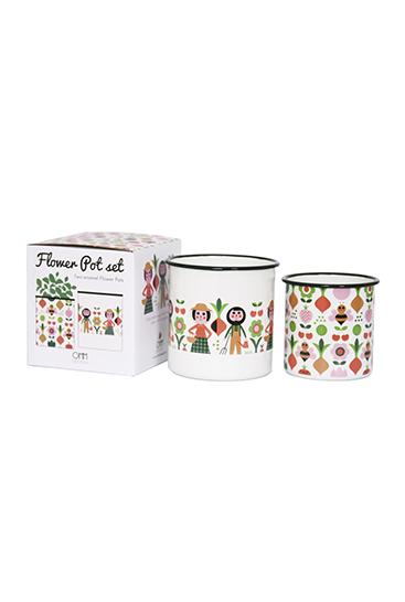 Flower pot set gardener frit