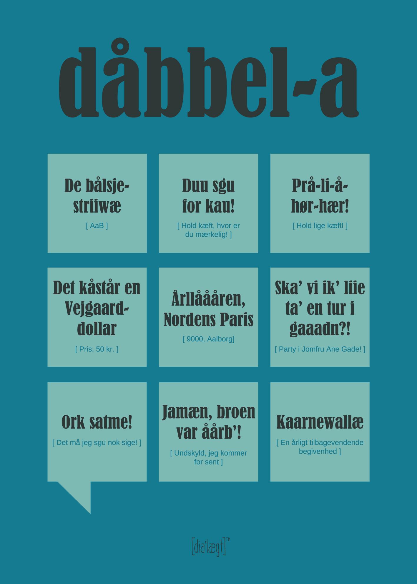 nordjysk dialekt plakat
