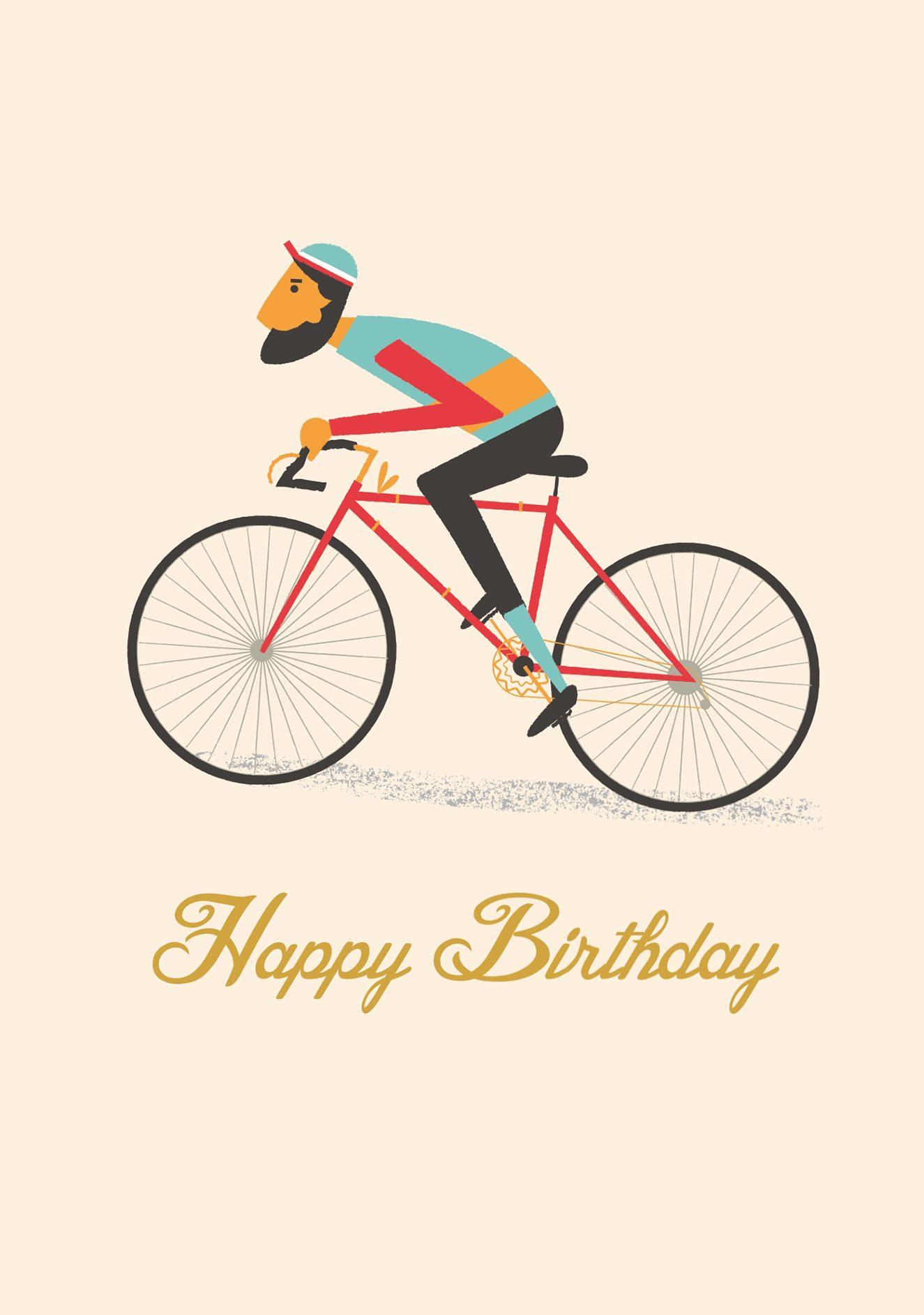 Fodselsdagskort Le Bicycle Mark Waldorf