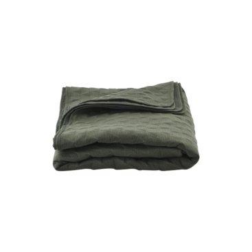 Stort armygrønt sengetæppe