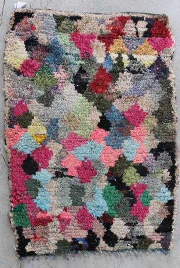 Boucherouite-tæppe-96-x-133-cm