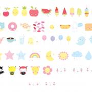 Farvede-symboler-kawaii-til-lightbox