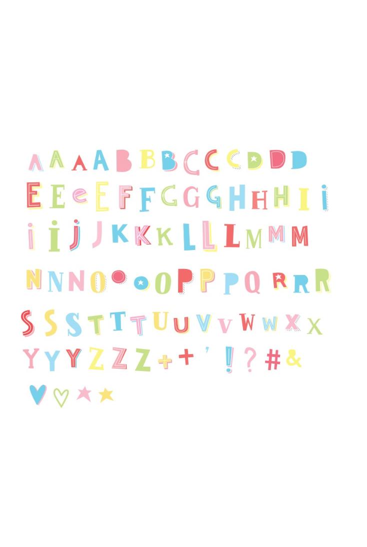 Bogstaver-til-lightbox-i-pastelfarver