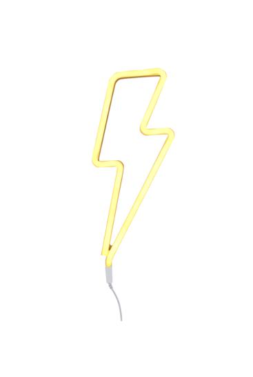neon-lampe-gult-lyn