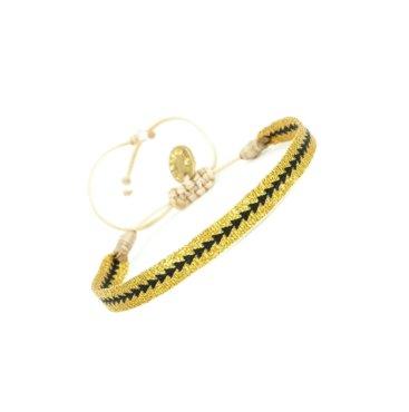 Armbaand-guld-sort