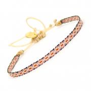 Armbaand-nr-02-i-smukke-mandarin-og-sorte-farver
