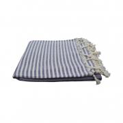 Hammam-haandklaede-denim-blaa-med-offwhite-striber-foldet