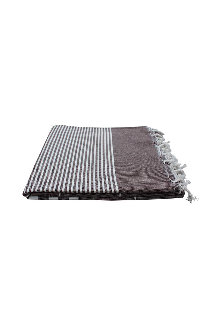 Hammam-haandklaede-chokolade-brun-foldet