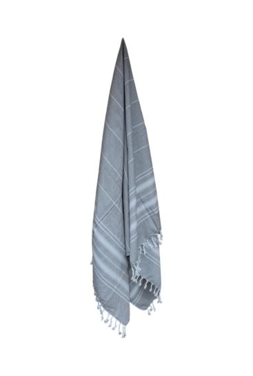 Hammam-haandklaede-lys-graa-med-hvide-striber-