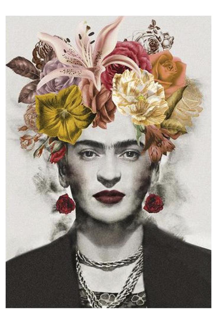 Plakat-med-Frida-Kahlo