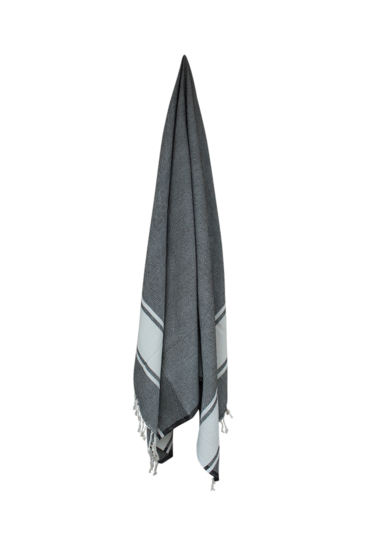 Hammam-haandklaede-sort-med-hvid-diamant-vaevet