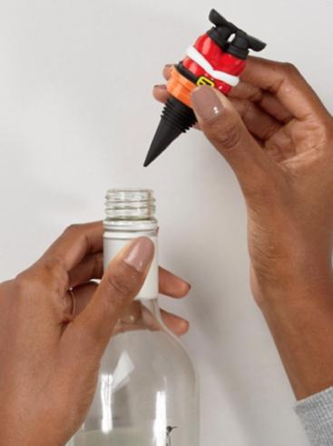 Vinprop-med-julemand-i-flaske