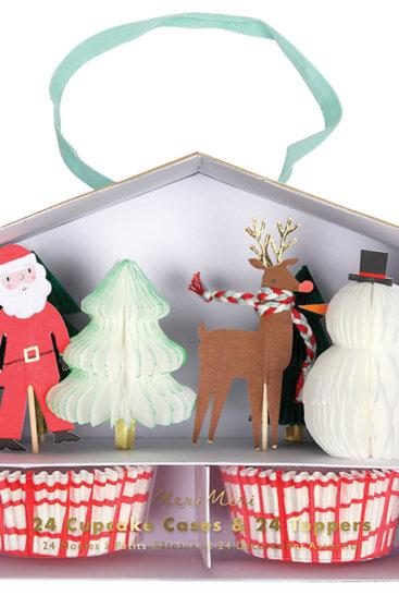Muffinforme-med-julemand-og-rensdyr