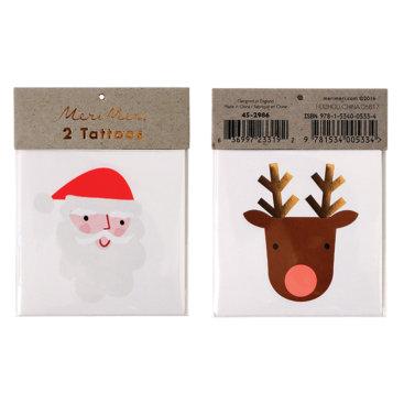 Tatoveringer-med-julemand-og-rensdyr