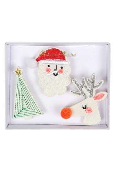 Broderede-brocher-med-julemotiver