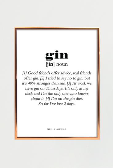 Gin-plakat-fra-Mens-lounge