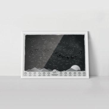 Stjerne-kort-plakat