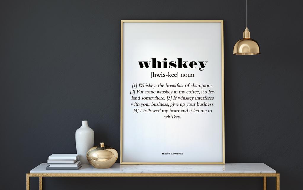 Billede-af-whisky-plakat-paa-vaeg