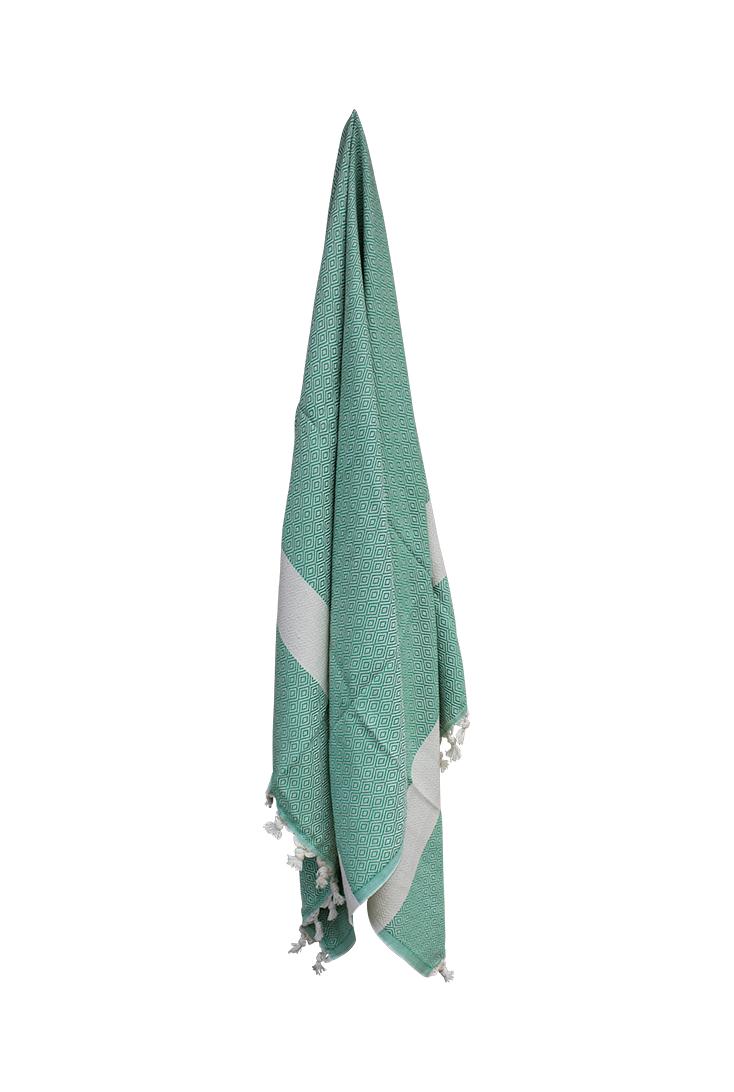 Smukt-hammam-haandklaede-i-flot-groen-farve