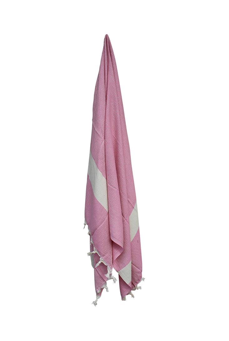Flot-pink-hammam-haandklaede