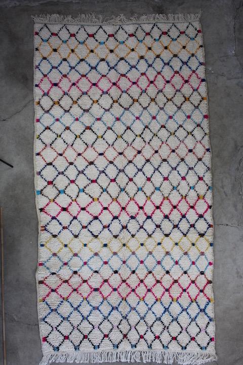 Flot-marokkansk tæppe-i-str-156-x-316