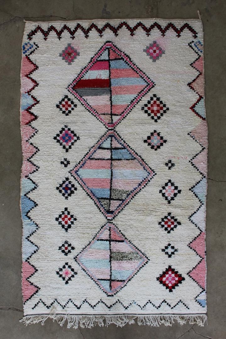 Rosa-marokkansk-taeppe-str-130-x-216-cm