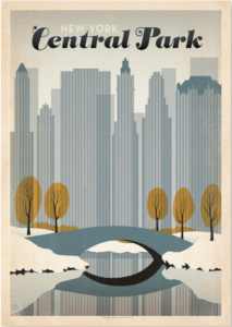 Plakat-med-Central-Park-New-York