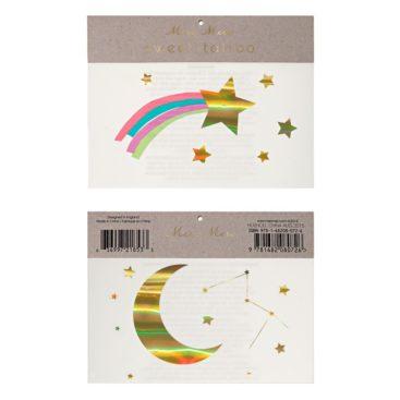 tatovering-med-regnbue-og-stjerneskud