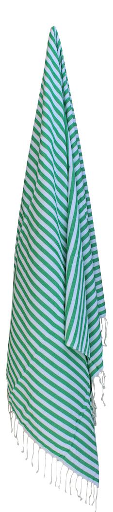 hammam-haandklaede-med-groenne-og-hvide-striber