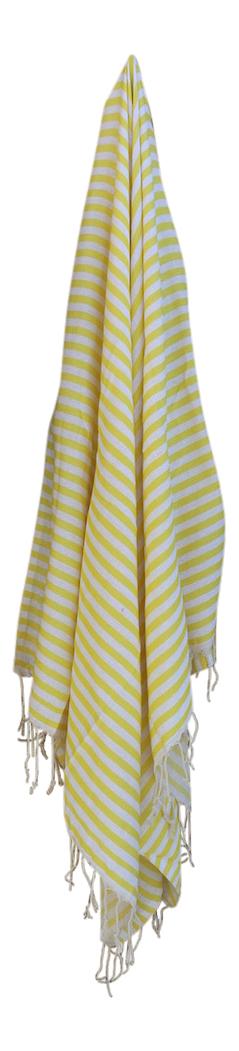 hammam-haandklaede-med-gule-og-hvide-striber