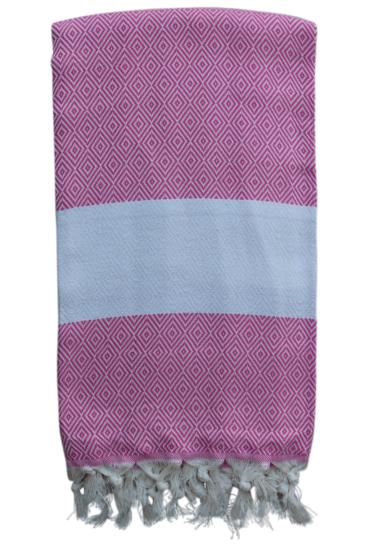 hammam-haandklaede-med-diamantvaevning-pink