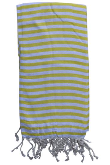 hammam-haandklaede-med-ens-striber-i-gul-og-hvid