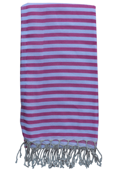 hammam-haandklaede-med-ens-striber-i-pink-og-hvid
