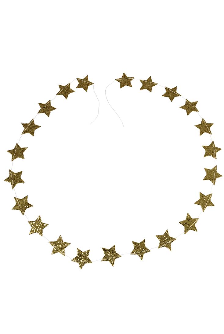 stjerne-guirlande-med-glimmer