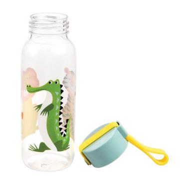 vandflaske-med-forskellige-dyr-og-skruelaag