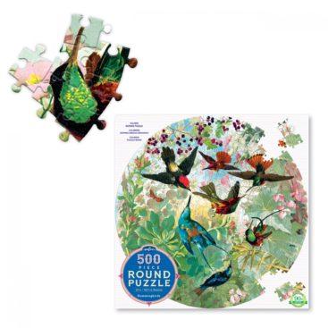 smukt-rundt-puslespil-med-kolibrier