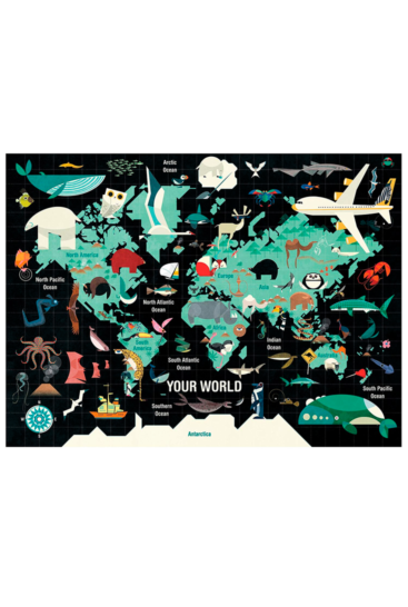 Puslespil-med-verdenskort