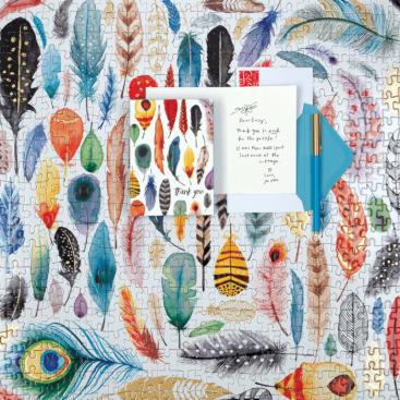 arrows-feathers-500-piece-foil-puzzle-foil-puzzles-galison-724507