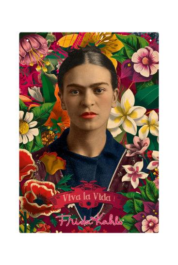 Frida-Kahlo-metalskilt