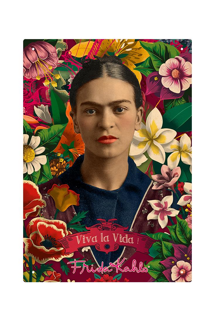 Frida-Kahlo-metalskilt