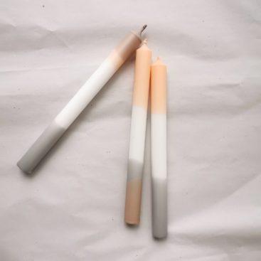 pastel-stearinlys