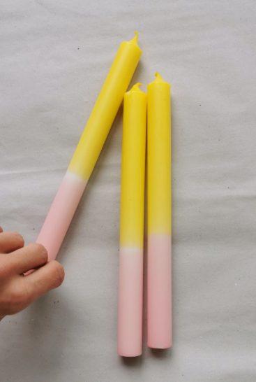 tofarvede-stearinlys