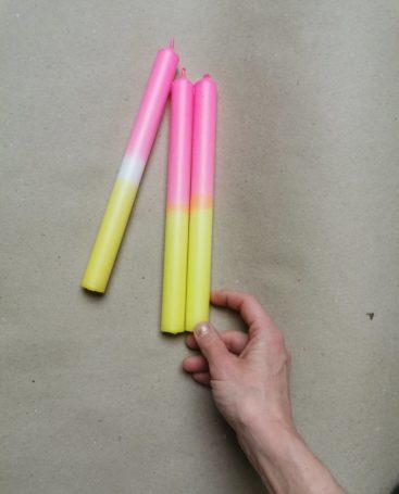 neon-stearinlys