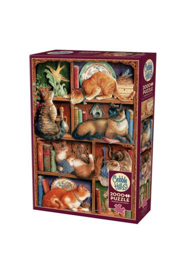 Feline-bookcase-puslespil