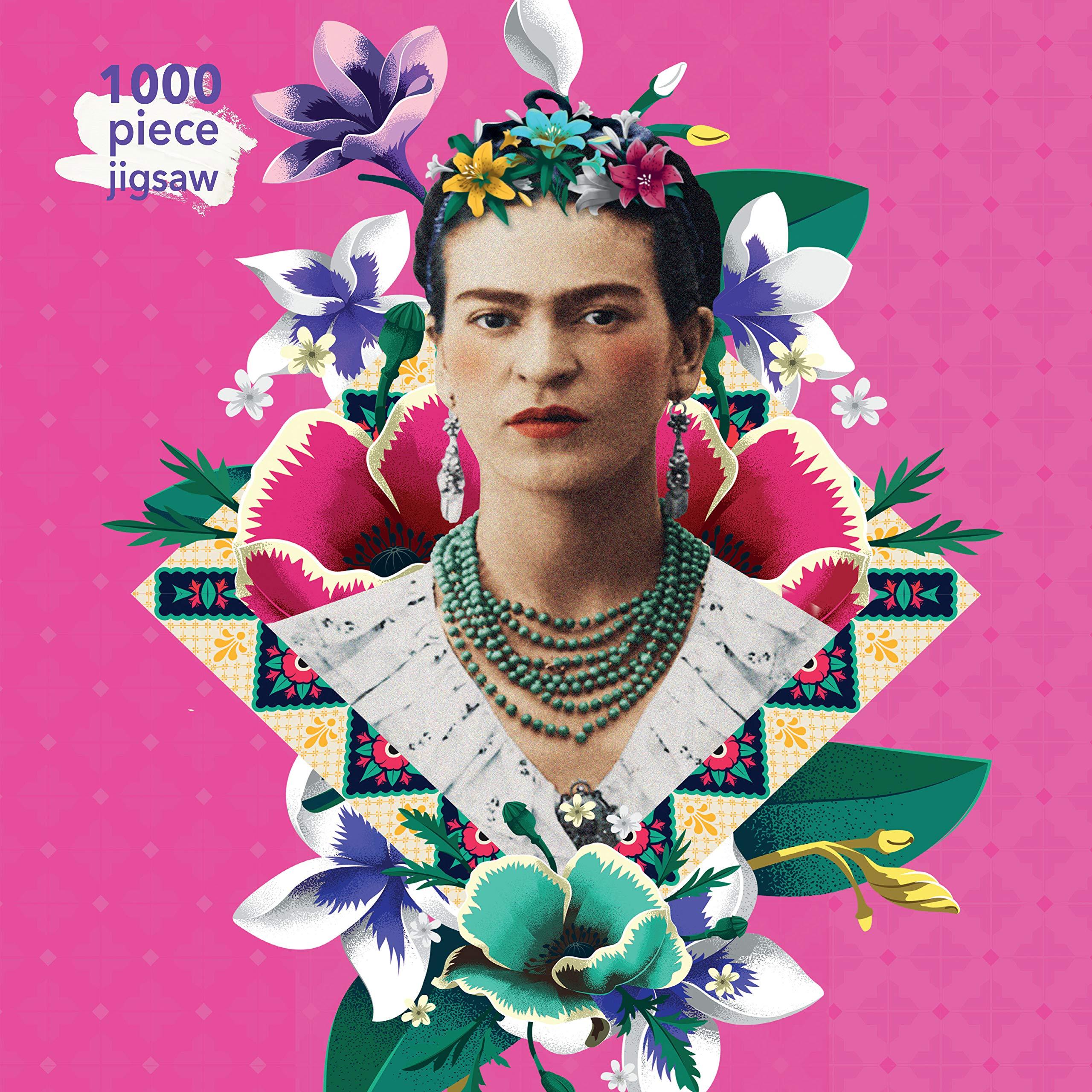 1000 BRK. PUSLESPIL pink frida kahlo