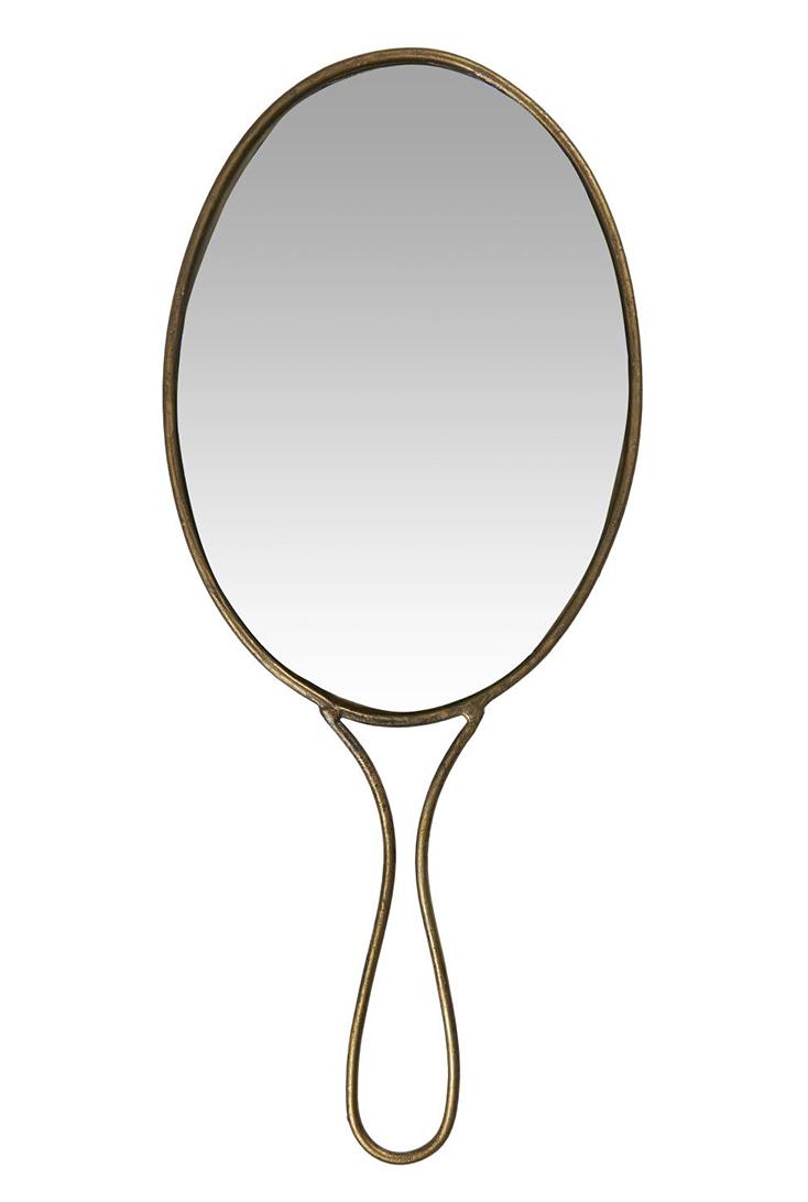 Ovalt-haandspejl