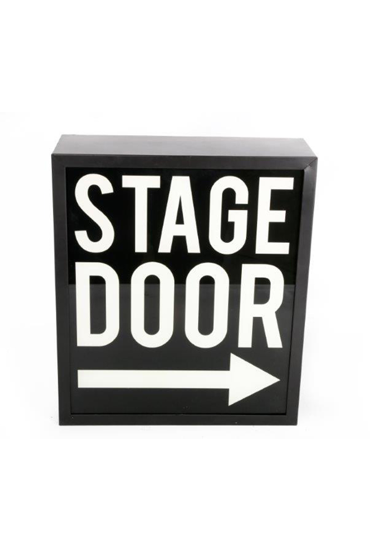 stage-door-skilt