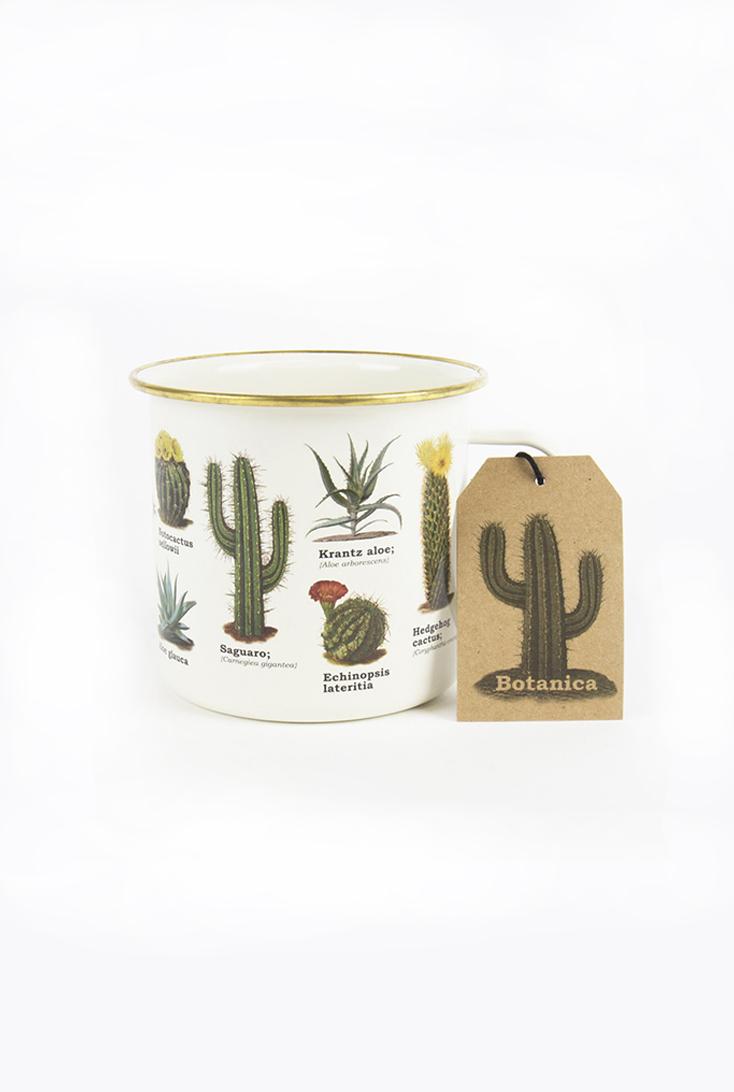 Kaktusser-emaljekrus