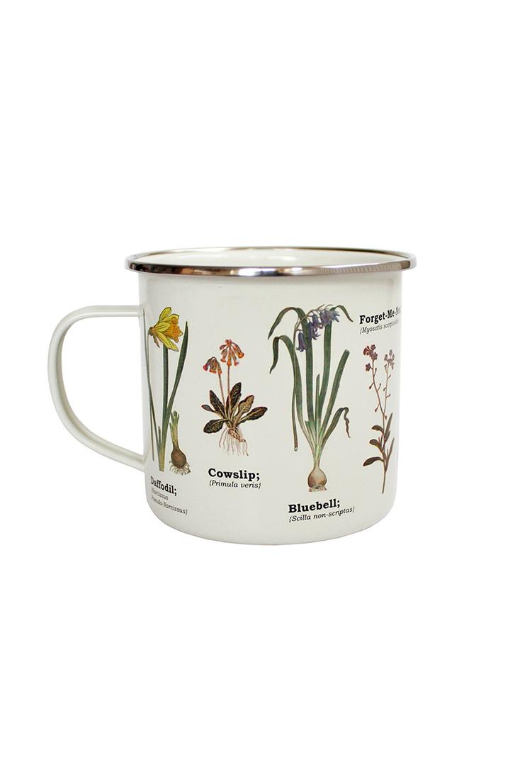 Vilde-blomster-emaljekrus